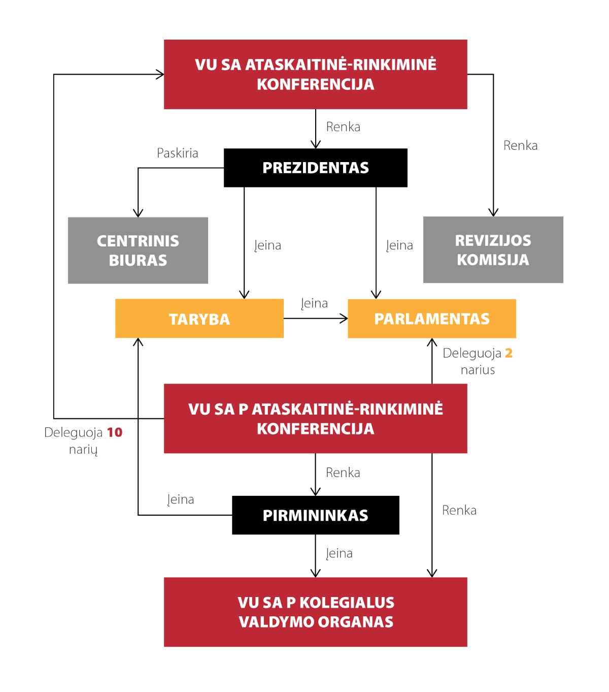 VU SA struktūra