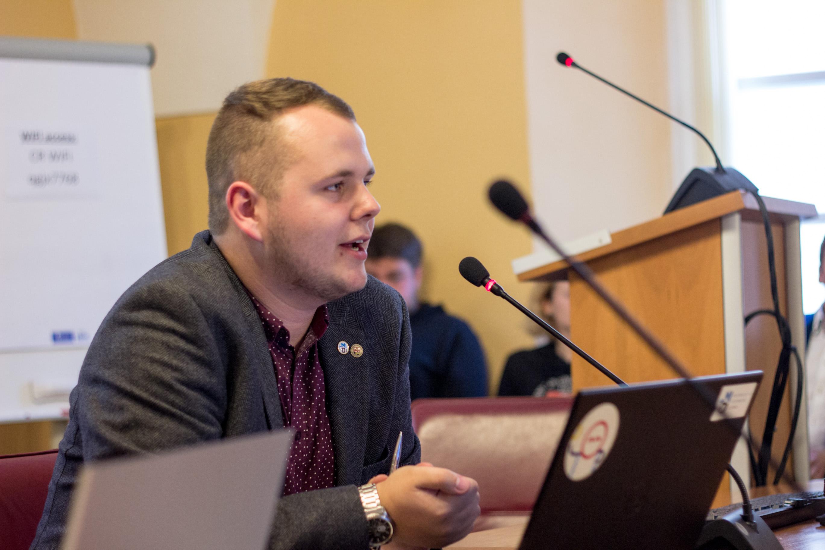 VU SA Parlamento pirmininkas Dominykas Stankevičius
